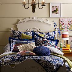 patterned boho bedding