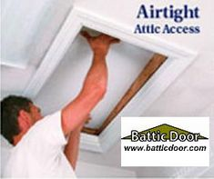 attic access insulation kits for attic pull down ladders and stairs, products, E Z Hatch attic access door R 42 199 Attic Access Door, Attic Doors, Garage Attic, Attic House, Attic Window, Attic Fan, Attic Library, Attic Office, Attic Playroom