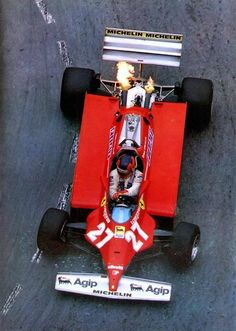 Gilles Villeneuve winner of the Monaco Grand Prix 1981