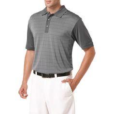Ben Hogan Performance Windowpane Jacquard Short Sleeve Polo Shirt