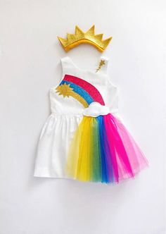 Items similar to Rainbow costume - Rainbow dress for girls and toddlers by berry and kit on Etsy - Trend Baby Rainbow 2020 Baby Girl Dress Design, Girls Frock Design, Kids Frocks Design, Baby Frocks Designs, Girls Dresses Sewing, Frocks For Girls, Tutus For Girls, Little Girl Dresses, Kids Dress Wear