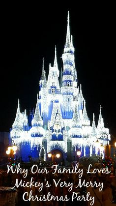 Why Our Family Loves Mickey's Very Merry Christmas Party It's time to celebrate the season! The Christmas season! It's a magical time of year, and what b