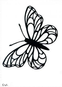 Grusskarte Scherenschnitt Schmetterling