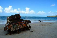 Guerra y paz en la Playa de Flamenco. Foto José E. Maldonado / www.miprv.com