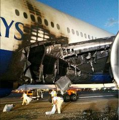 The British Airways Boeing 777 that aborted a takeoff at Las Vegas McCarran International Airport with 157 passengers and 13 crew members aboard in September will fly again. British Airways Planes, Aviation Accidents, Las Vegas Airport, South African Air Force, Boeing 777, New Image, Fighter Jets, Aircraft, Fire