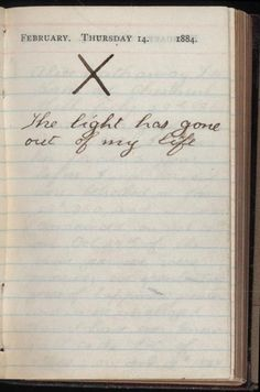 and Why to Start a Journal Teddy Roosevelt's diary entry from the day his wife died. He never spoke of her death again.Teddy Roosevelt's diary entry from the day his wife died. He never spoke of her death again. Theodore Roosevelt, Roosevelt House, Alice Roosevelt, President Roosevelt, Teddy Roosevelt Quotes, Roosevelt Family, Eleanor Roosevelt, Karl Valentin, Behind Blue Eyes