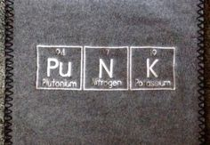 PUNK Scarf Periodic Table Science Chemistry Geek Winter Made To Order on Etsy, $19.99