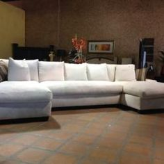 Bradly Double Chaise Feather Down Sectional : sectionals for condos - Sectionals, Sofas & Couches