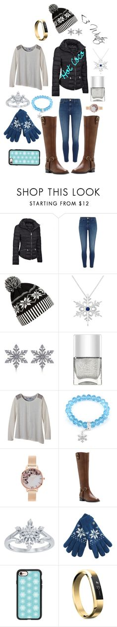 """""""Winter"""" by mlpcsgolife ❤ liked on Polyvore featuring River Island, WithChic, Allurez, Nails Inc., prAna, West Coast Jewelry, Olivia Burton, INC International Concepts, Disney and Casetify"""