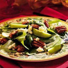 Spinach-Pecan Salad | MyRecipes.com: December