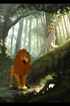 Exploring the Forest by Nightrizer on DeviantArt Lion King 1, Lion King Fan Art, Lion Art, Disney Lion King, Simba Et Nala, Big Cats Art, Furry Art, Cat Art, Disney Characters