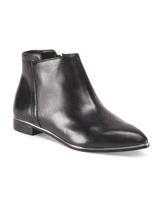image of Leather Low Ankle Bootie