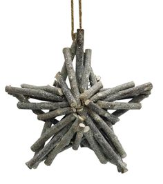 Holiday Cheer Twig Star Ornament