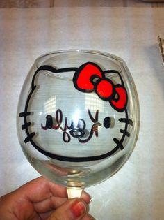 11.2012 Kayla's 21st Bday Wine Glass