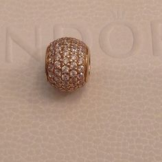 Pandora 14k Gold Charm Authentic Pandora 14k Gold Pave Charm. This will make any bracelet really sparkle. Brand New! Pandora Jewelry