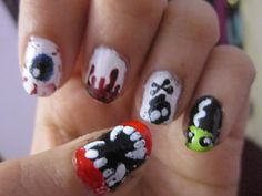 Halloween nails, just in time for halloween :)