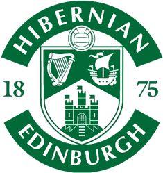 Hibernian FC. The meaning of the symbols on the club badge: Harp - Ireland. Ship - Leith. Castle - Edinburgh.