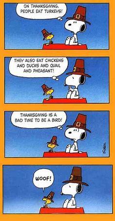 Thanksgiving. The Peanuts. (Comic Strip)