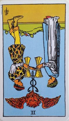 25 May 2015: #DailyCardReading #PsychicReading #tarot #SpiritualGuidance  II CUPS (rev) ~ Recent events have left you feeling slightly off balance - you feel as though others don't understand you. Your words don't reflect your emotions and feelings - what's caused you to feel so off-centre and powerless that you're unable to express yourself? Was it another's actions or words?  ...See the whole reading at https://www.facebook.com/AmethystRoseNewAgeProductsandServices  <3 Vanda xx