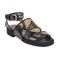 Givenchy Transparent Double-Band Ankle-Strap Sandals at Barneys.com