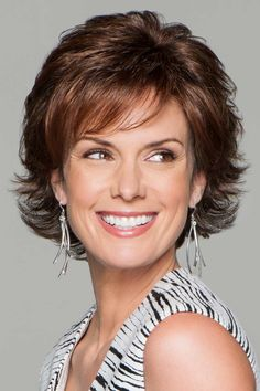 Carte Blanche by Eva Gabor Wigs - Lace Front, Hand Tied, Monofilament Wig Short Hair With Layers, Short Hair Cuts, Short Bob Hairstyles, Cute Hairstyles, Braid Hairstyles, Lace Front Wigs, Lace Wigs, Gabor Wigs, Monofilament Wigs