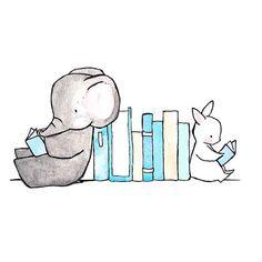 Read to Me 8x10 Print Baby Nursery Wall Art Decor por ohhellodear