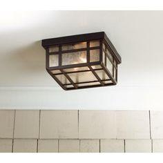 "Mission Hills 10 1/2"" Wide Indoor - Outdoor Ceiling Light"