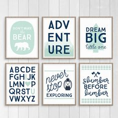 Mint Adventure Print