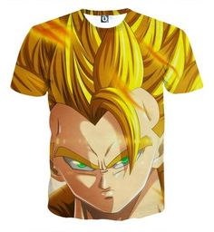 Dragon Ball Z Gogeta Super Saiyan Warrior Power Full Print Streetwear Cool Design T-Shirt  #DragonBallZ #Gogeta #SuperSaiyan #Warrior #PowerFull #Print #Streetwear #Cool #Design #T-Shirt