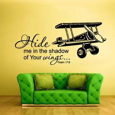 Wall Vinyl Sticker Decals Decor Art Bedroom Design Mural Words Sign Quote Wings Airplane aircraft (z937) on Etsy, $27.99