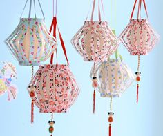 Self-made Japanese paper balloons    Perfect for a little birthday party, no?