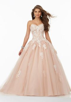 MagBridal Bridal Dresses Online,Wedding Dresses Ball Gown, fantastic tulle sweetheart neckline ball gown quinceanera dresses with lace appliques Mori Lee Prom Dresses, Grad Dresses Long, 15 Dresses, Formal Dresses, Wedding Dresses, Lace Dresses, Formal Prom, Formal Wear, Bridal Gowns
