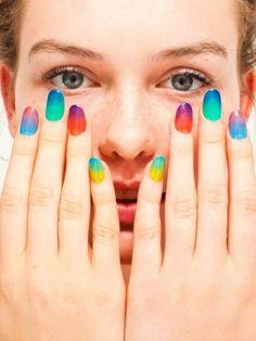 Nails Love Nails, How To Do Nails, Fun Nails, Pretty Nails, Sheer Nail Polish, Nail Polish Colors, Nail Polishes, Nail Nail, American Apparel