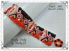 """Funky Party"" Peyote Beaded Bracelet Pattern by Lorraine Hickton Coetzee aka TrinityDJ at Bead-Patterns.com"