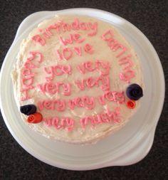 Rachel's birthday cake, made by Deborah