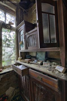 Abandoned house.If Walls Could Whisper. You can see the beauty and care that went into this kitchen.