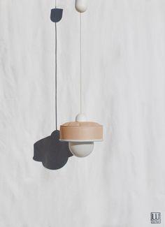 Hanging / pendant / ceiling lamp, light pastel peach / salmon color ... eco friendly & handmade : re