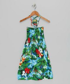 Take a look at this Turquoise Lei Halter Dress - Toddler & Girls by India Boutique on #zulily today!