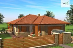 Egyszintes családi ház 167 m2 Modern Family House, Family House Plans, Simple House Design, Facade House, Cottage Style, My Dream Home, Bungalow, My House, Gazebo