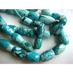 Turquoise  Turquoise Faceted Barrel Shaped by gemsforjewels, $52.45
