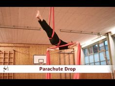 Aerial Silks Tutorial - Parachute - YouTube