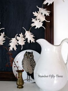 Number Fifty-Three: Autumn Book Page Garland