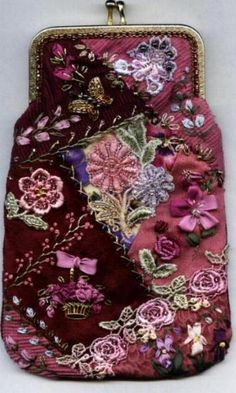 Julia's Place...I have a beautiful old velvet purse that I'm planning to embroider like this.