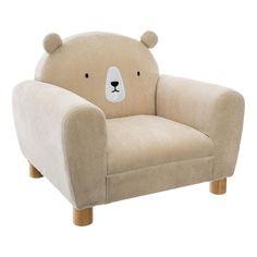 Macis gyerekfotel, krémszínű - NOUNOURS - ❤️ Időtálló design, kedvező áron ❤️ Butopêa Bear Ears, Yurts, Kids Room Design, Baby Skin, Backrest Pillow, Soft Fabrics, Cool Designs, Pillows, Furniture