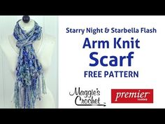 Arm Knit Scarf with Starry Night & Starbella Flash - Right Handed - YouTube