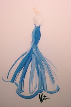 What Your Favorite Met Dresses Look Like As Art #refinery29  http://www.refinery29.com/2014/05/67482/met-gala-sketches#slide-10  Toni Garrn stepped out in a mermaid-shaped Topshop gown.