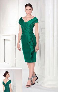 Sheath V-neck Tea-length Satin Natural Formal Dresses Plus Size Dresses, Dresses For Sale, Short Dresses, Formal Dresses, Cap Dress, Peplum Dress, Green Cocktail Dress, Cocktail Dresses, Mothers Dresses