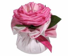 Moyenne boule Rose Bonbon parfumée roses et feuilles - Atelier Catherine Masson - Atelier Catherine Masson (France)