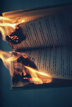 This book is on fire. Fire Photography, Creative Photography, Photography Camera, Aesthetic Photo, Aesthetic Pictures, Burnt Paper, Into The Fire, City Of Angels, Burns