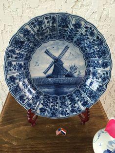 Delft Plate Delfts Blauw Schotel Molen by GuamAntiquesNstuff